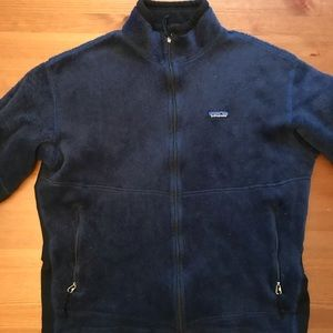 Patagonia thick zip up fleece sweater w/ polartec